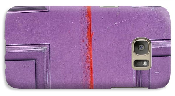 Galaxy Case featuring the photograph Red Stripe by Peggy Stokes