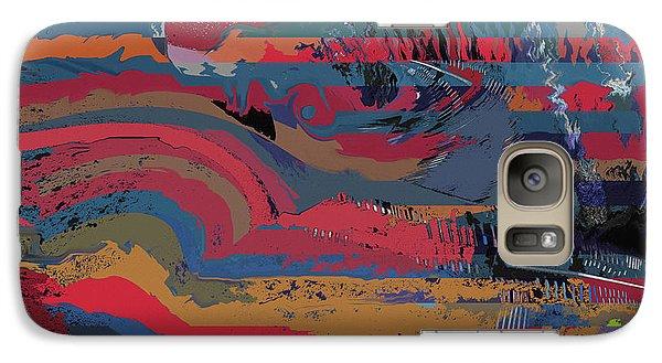 Galaxy Case featuring the digital art Red Stripes by David Klaboe