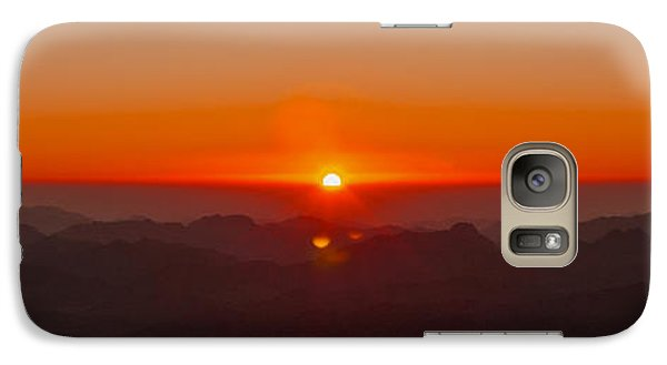 Galaxy Case featuring the pyrography Red Sunrise In Sinai Montains by Julis Simo