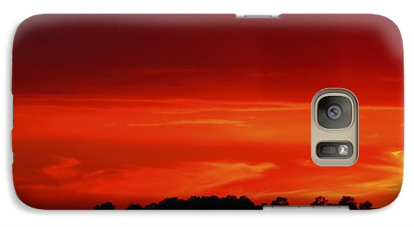 Galaxy Case featuring the photograph Red Sunset by Debra Crank