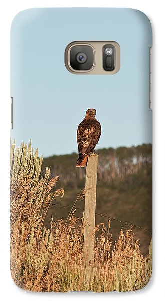 Galaxy Case featuring the photograph Red Tailed Hawk by Daniel Hebard