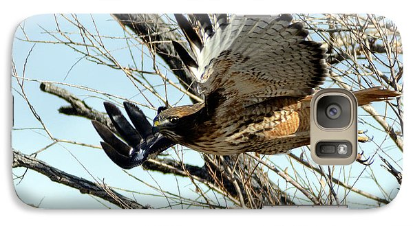 Galaxy Case featuring the photograph Red Tailed Hawk Sequence #1 by Stephen  Johnson