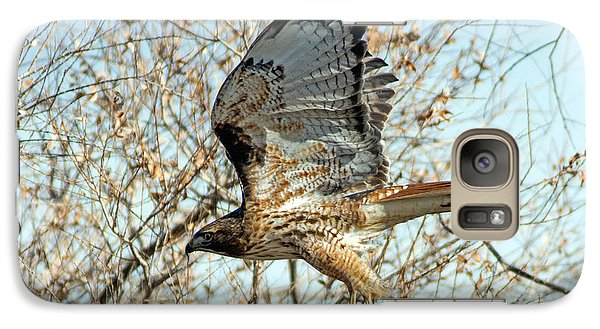 Galaxy Case featuring the photograph Red Tailed Hawk Sequence #3 by Stephen  Johnson