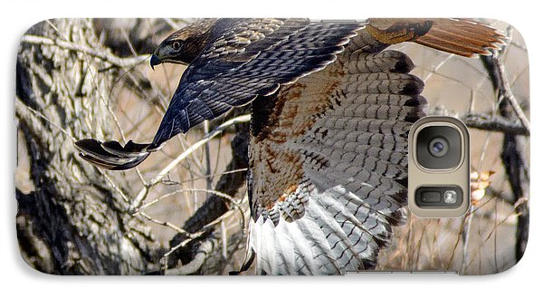 Galaxy Case featuring the photograph Red Tailed Hawk Sequence #4 by Stephen  Johnson