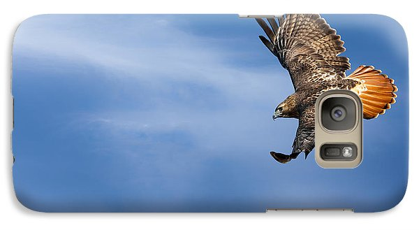 Red Tailed Hawk Soaring Galaxy S7 Case by Bill Wakeley