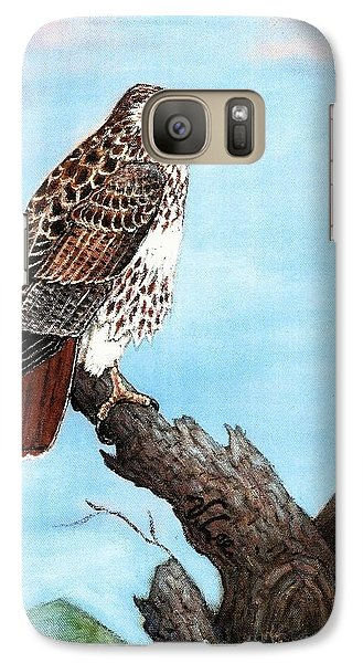 Galaxy Case featuring the painting Red Tailed Hawk by VLee Watson