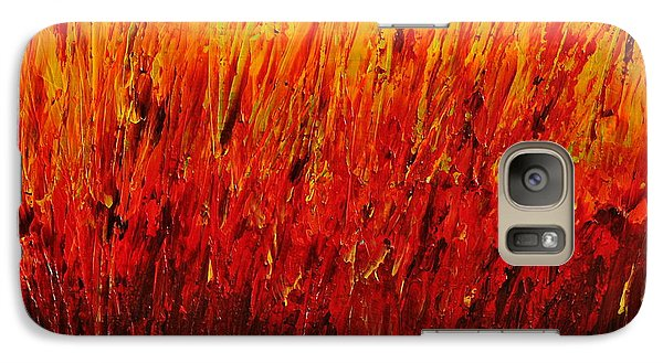 Galaxy Case featuring the painting RED by Teresa Wegrzyn
