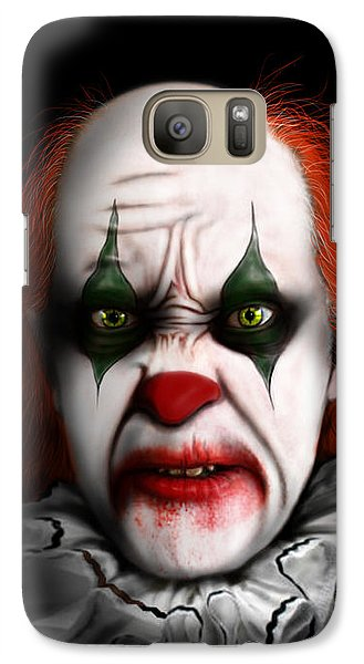 Galaxy Case featuring the digital art Red The Clown by Jeremy Martinson