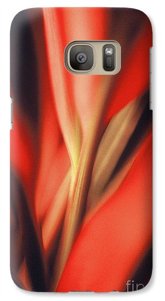 Galaxy Case featuring the photograph Red Ti by Ranjini Kandasamy