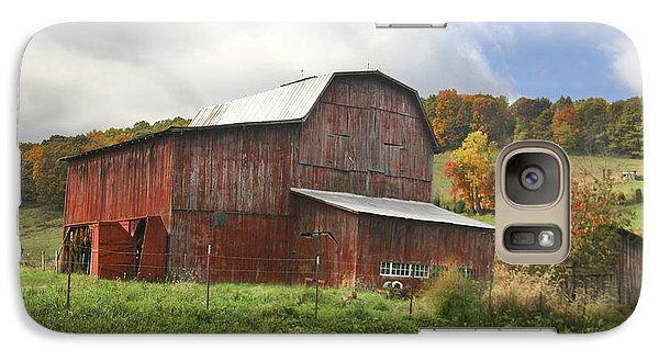 Galaxy Case featuring the photograph Red Tobacco Drying Barn by Robert Camp