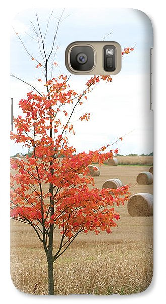 Galaxy Case featuring the photograph Red Tree by Elizabeth Lock
