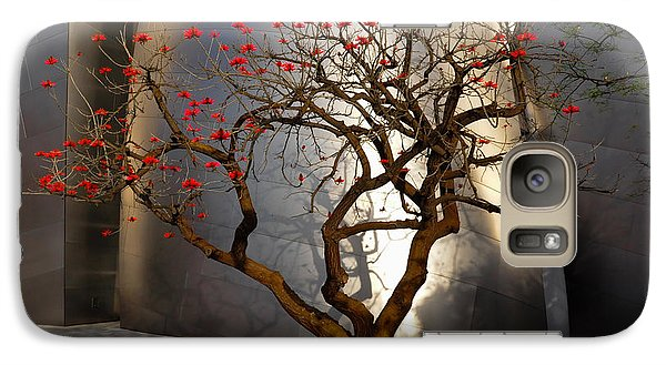 Galaxy Case featuring the photograph Red Tree  by Gandz Photography