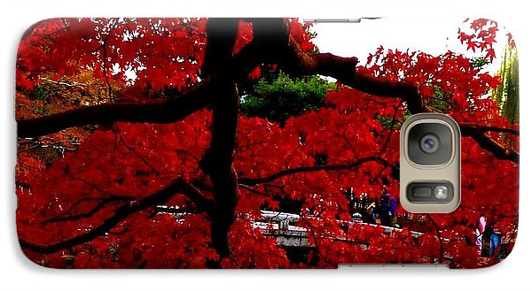 Galaxy Case featuring the photograph Red Tree by Julia Ivanovna Willhite