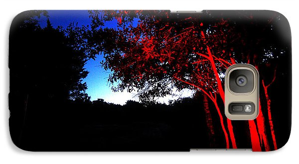 Galaxy Case featuring the photograph Red Trees by Susan D Moody