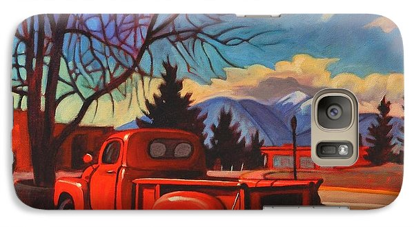 Galaxy Case featuring the painting Red Truck by Art James West