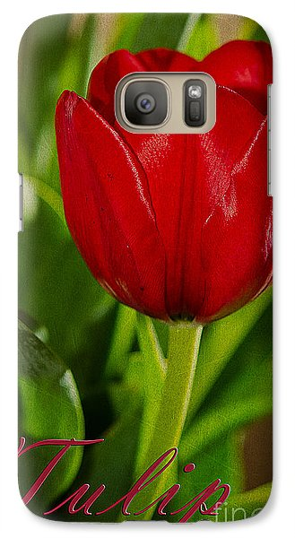 Galaxy Case featuring the photograph Red Tulip by MaryJane Armstrong