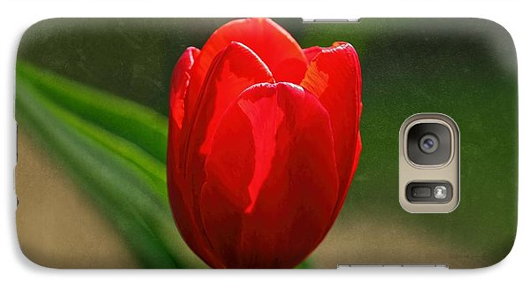 Galaxy Case featuring the photograph Red Tulip Spring Flower by Tracie Kaska