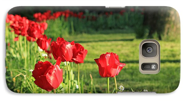 Galaxy Case featuring the photograph Red Tulips by Jose Oquendo