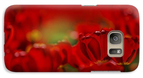 Tulip Galaxy S7 Case - Red Tulips by Nailia Schwarz