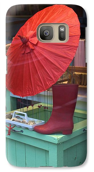 Galaxy Case featuring the photograph Red Umbrella by Douglas Pike