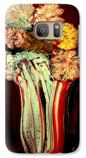 Galaxy Case featuring the painting Red Vase 7 by Bill OConnor
