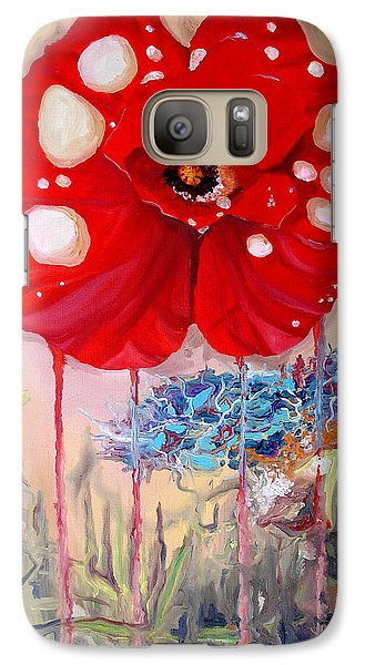 Galaxy Case featuring the painting Red Weed Red Poppy by Daniel Janda