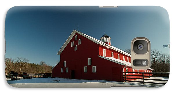 Galaxy Case featuring the photograph Red White And Blue At The Farm by Haren Images- Kriss Haren