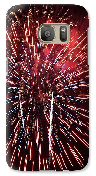 Galaxy Case featuring the photograph Red White And Blue by Harold Rau