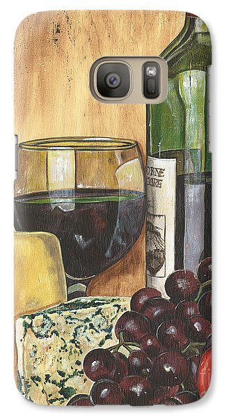 Red Wine And Cheese Galaxy S7 Case by Debbie DeWitt