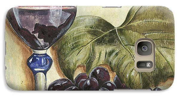 Cocktails Galaxy S7 Case - Red Wine And Grape Leaf by Debbie DeWitt