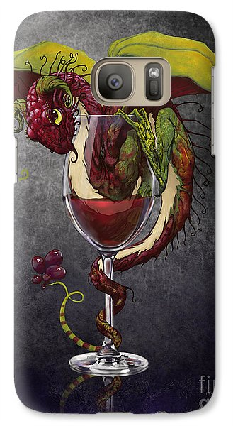Cocktails Galaxy S7 Case - Red Wine Dragon by Stanley Morrison