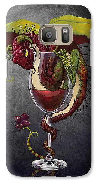 Dragon Galaxy S7 Case - Red Wine Dragon by Stanley Morrison