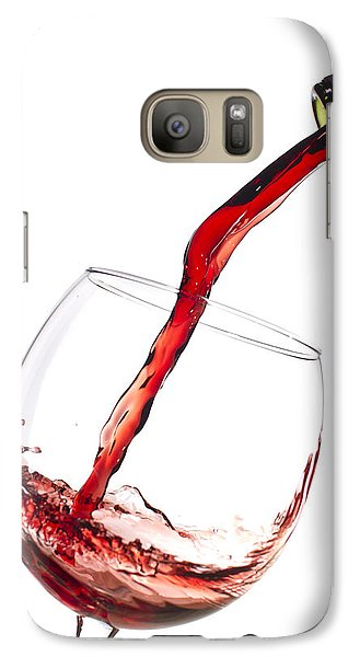 Red Wine Pouring Into Wineglass Splash Galaxy S7 Case by Dustin K Ryan