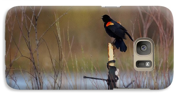 Red Winged Blackbird 2 Galaxy S7 Case