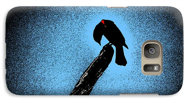 Galaxy Case featuring the digital art Red Winged by Kathleen Stephens