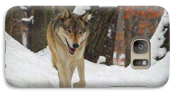 Galaxy Case featuring the digital art Red Wolf On A Winter Hunt by Lianne Schneider