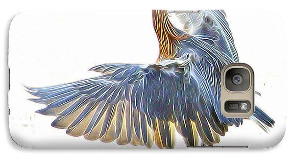 Galaxy Case featuring the digital art Reddish Egret 1 by William Horden