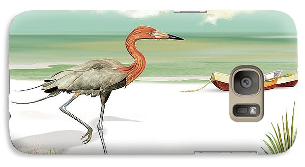Galaxy Case featuring the painting Reddish Egret by Anne Beverley-Stamps