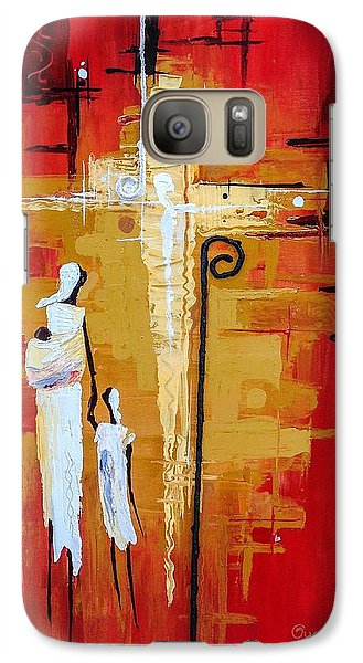Galaxy Case featuring the painting Redemption Path by Oyoroko Ken ochuko