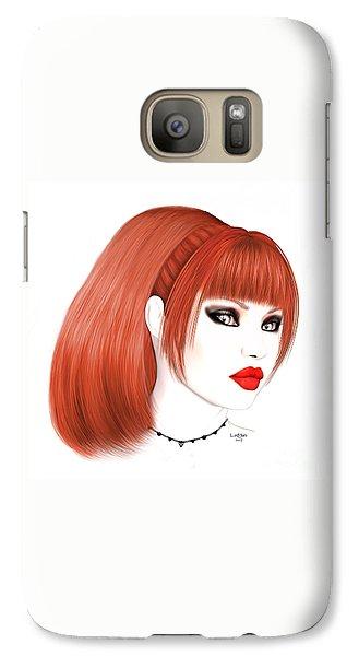 Luxmaris Galaxy S7 Case - Redhead Cassia by Renate Janssen