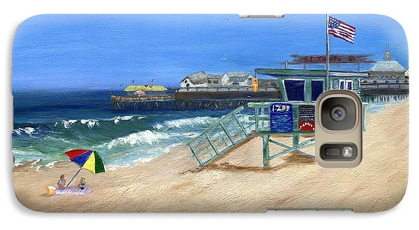 Galaxy Case featuring the painting Redondo Beach Lifeguard  by Jamie Frier
