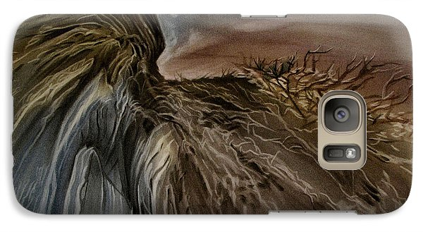 Galaxy Case featuring the pastel Redrockscape 2010 by Glenn Bautista