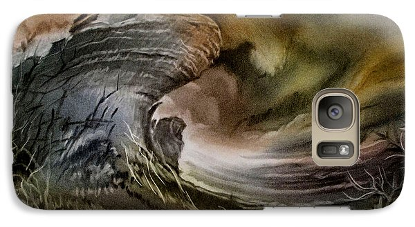 Galaxy Case featuring the pastel Redrockscaped 2010 by Glenn Bautista