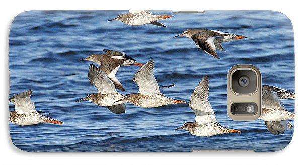 Galaxy Case featuring the photograph Redshank On The Wing by Paul Scoullar