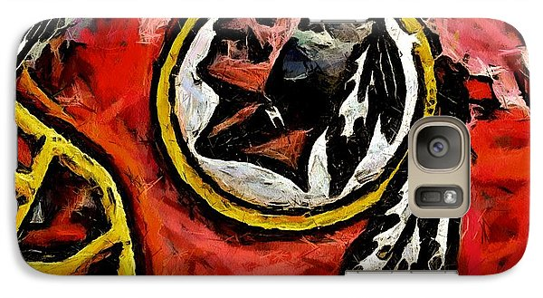 Galaxy Case featuring the digital art Redskins  by Carrie OBrien Sibley