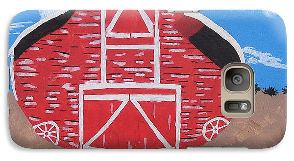 Galaxy Case featuring the painting Redwood Farm Barn by Brady Harness