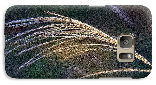 Galaxy Case featuring the photograph Reed Grass by Ludwig Keck