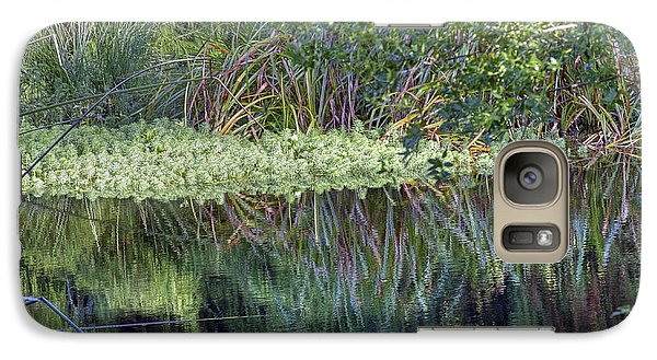 Galaxy Case featuring the photograph Reed Reflections by Kate Brown