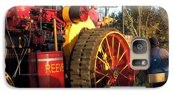Galaxy Case featuring the photograph Reeves Steam Tractor by Pete Trenholm