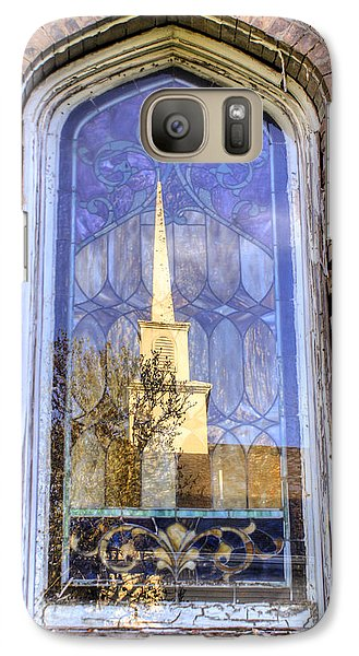 Galaxy Case featuring the photograph Reflected Steeple by Rebecca Hiatt